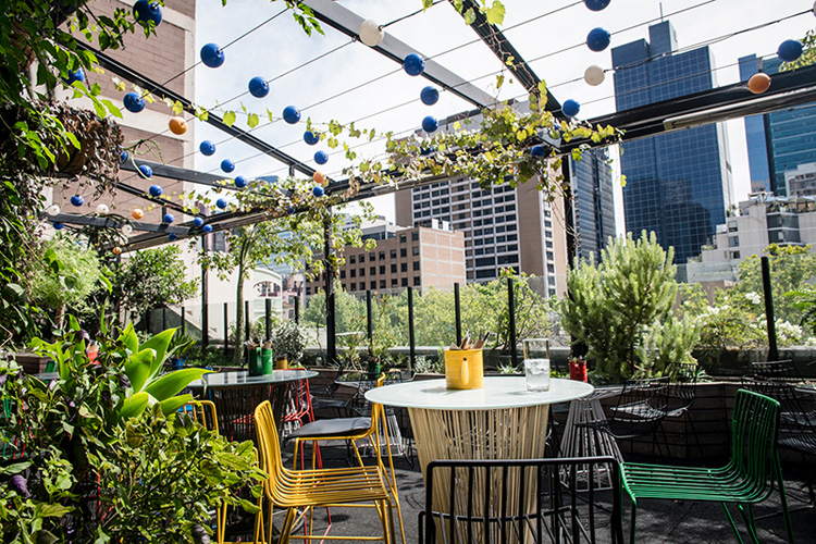 Book a table melbourne rooftop bars Loop Roof