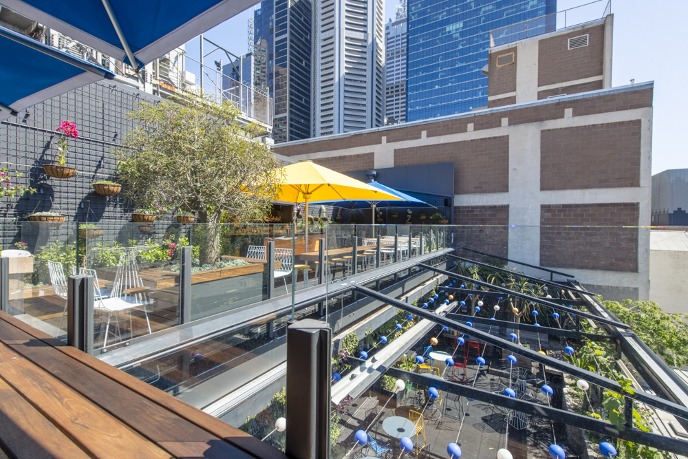 Loop Top Twin-tier rooftop bar Mebourne CBD Views
